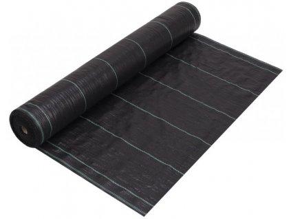Zahradní fólie černá s pruhy 0,4 x 100 m tkaná (90g/m2)