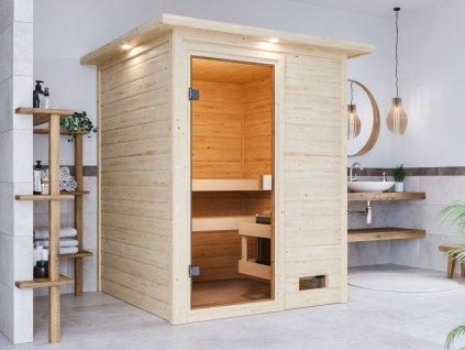 Finská sauna KARIBU SANDRA do interiéru 145x145x187(6160).