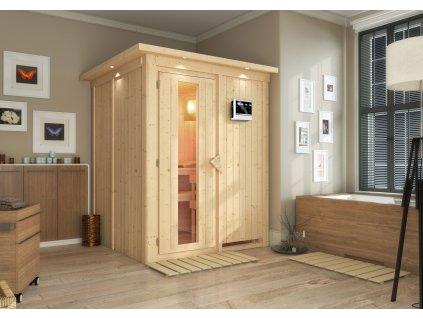 Finská sauna KARIBU NORIN do interiéru 1,51 x 1,51 x 1,98 m