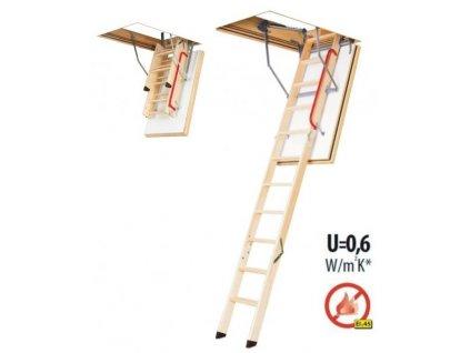 FAKRO protipožární půdní schody LWF 86 x 130 cm (305 cm)