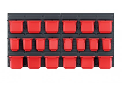 zavesny panel s 20 boxy na naradi orderline 800x165x400