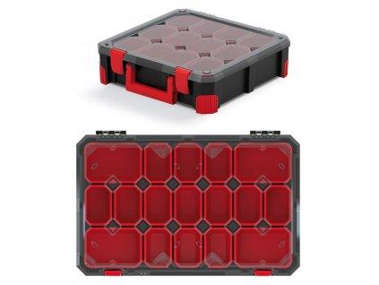 organizer titan 17 krabicek pruhledne viko 598x390x110
