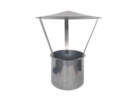 Nerezová komínová stříška univerzální Ø 130 mm