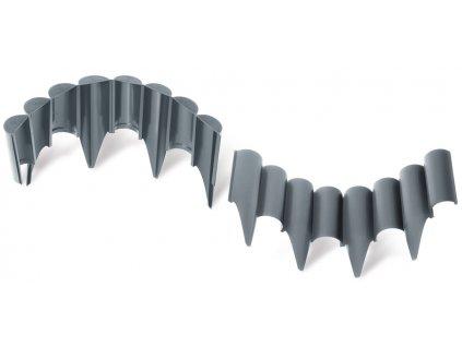 Obrubník plastový ZELENÝ 2,5 m / 12,5 cm zahradní palisáda