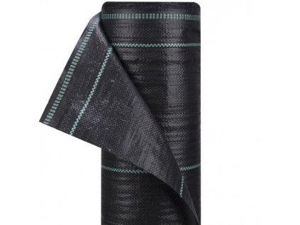 Tkaná textilie zahradní s pruhy 1,6 x 100 m černá tkanina (70 g/m2)
