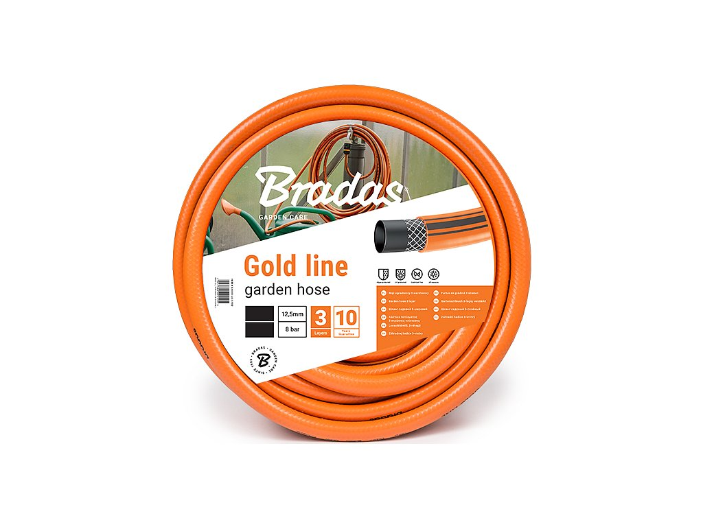 """Záhradná hadica Bradas 1/2 """" - 50 m GOLD LINE 3vrstvá"""