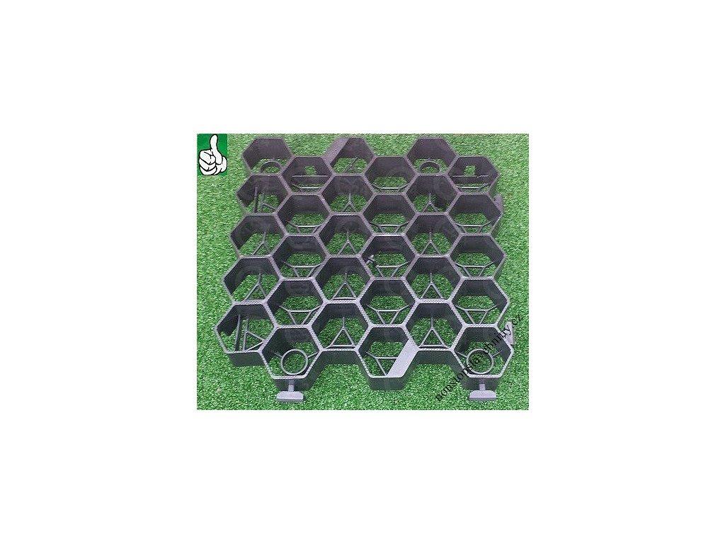 Zatrávňovacia dlažba ČIERNA 33,8 x 33,5 x 7,5 cm EXTRA STRONG