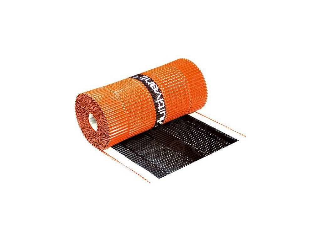 Vetrací hrebeňový a nárožný pás hliníkový - hnedá