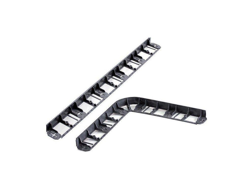 Neviditeľný obrubník plastový čierny 45 mm / 8 m + kolíky zadarmo