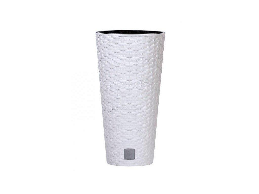 Plastové kvetináče Rato Tubus biely Ø 20 cm