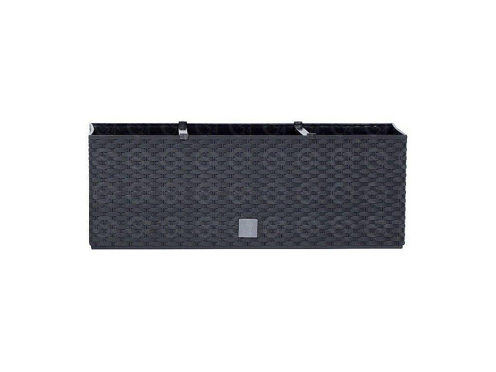 Plastové samozavlažovacie truhlíky Rato Case antracit 60 x 25 cm