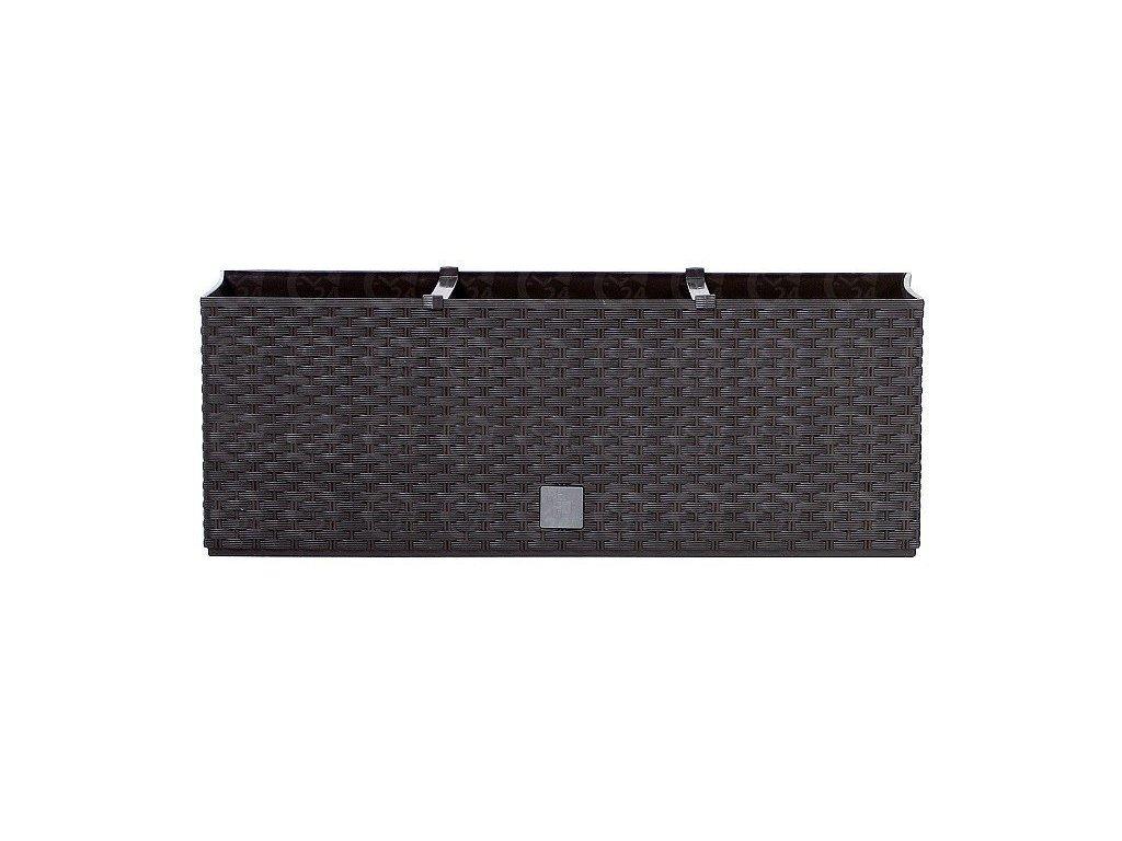 Plastové samozavlažovacie truhlíky Rato Case hnedý 80 x 33 cm