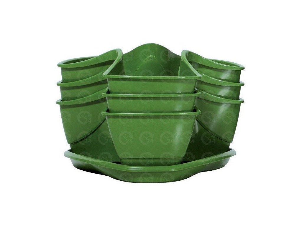 Bylinkové plastové kvetináče Coubi Herbal zelený
