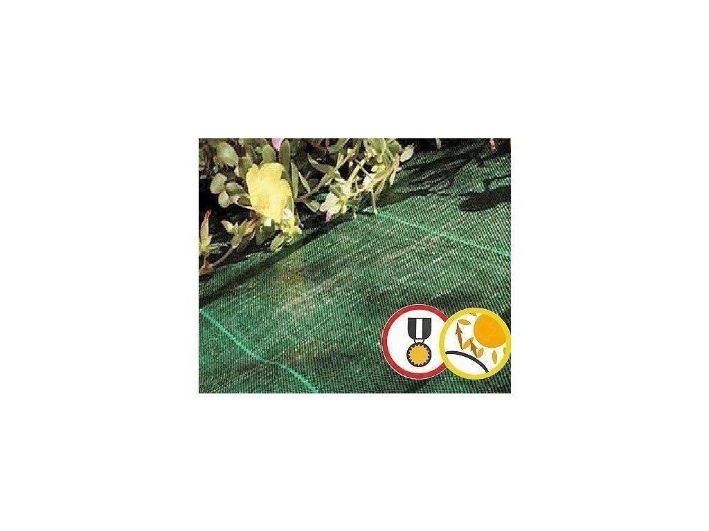 Fólia na záhony proti burine 105 g / m2 COVER PRO 2 x 5 m zelená -VÝPRODEJ