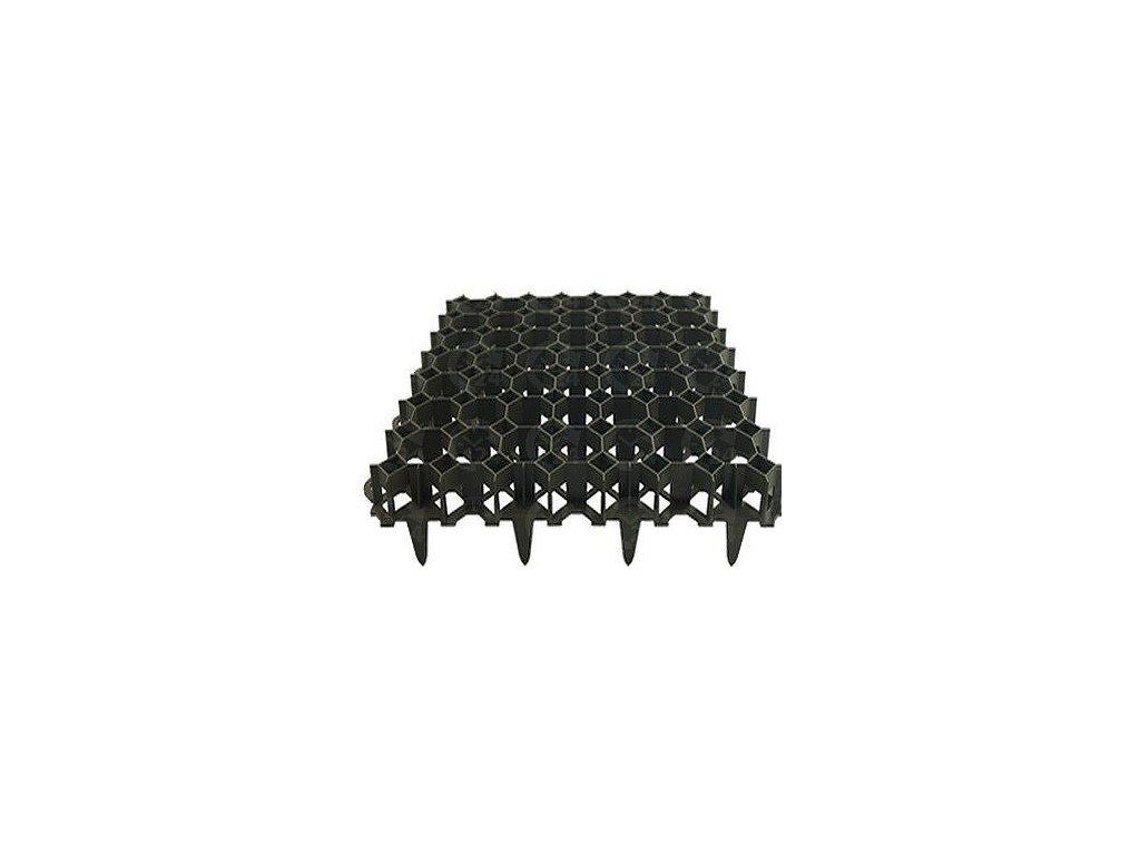 Zatrávňovací dlažba PVC dlaždica 50 x 50 x 6,2 cm PROFI Garden čierna