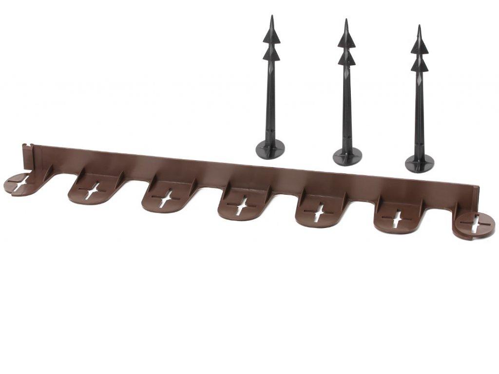Neviditeľný obrubník Palisgarden plastový hnedý 38mm x 3m + 12 kolíkov zadarmo