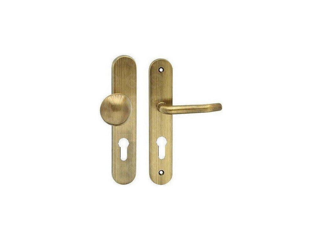 Bezpečnostné kľučka vchodová TITAN bronz česaný Cobra