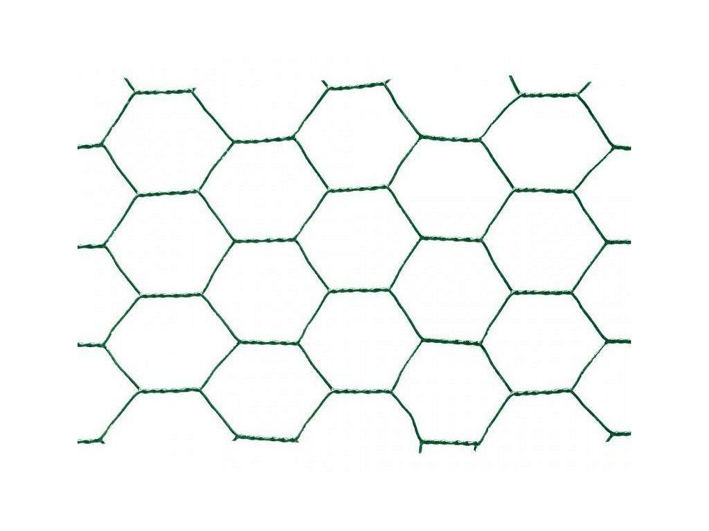Poplastované pletivo šesťhranné 1 x 25 m (oko 13 mm)