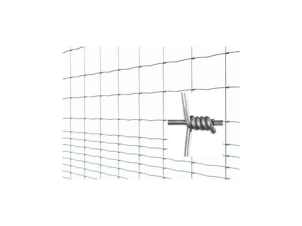 Pletivo pozinkované uzlové LIGHT v. 1,6 m vodorovné drôty 23 ks (bal 50 m)