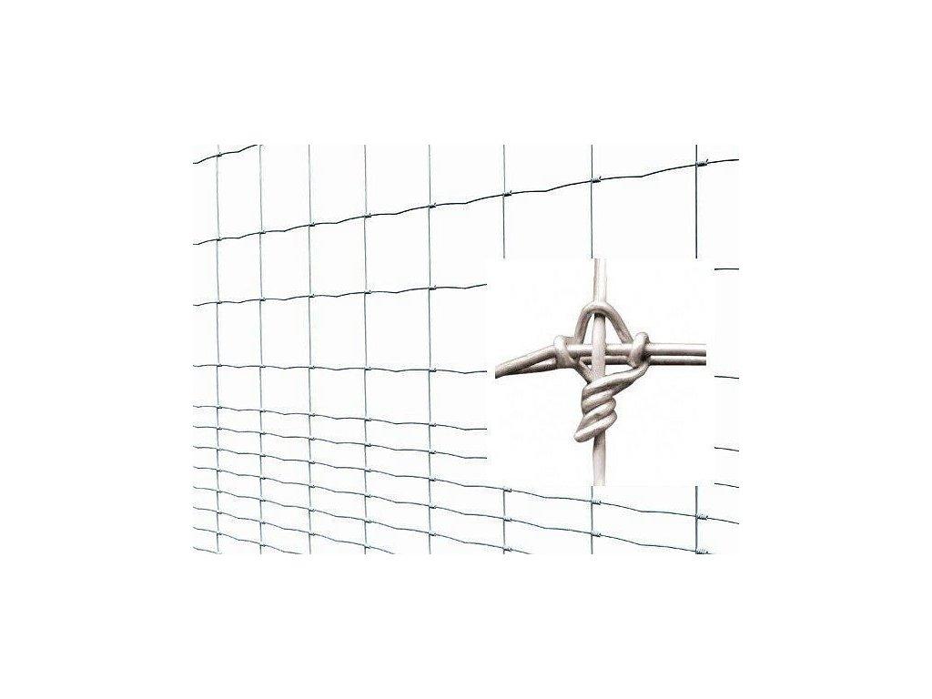 Pletivo pozinkované UZLOVÉ oborné TITAN LIGHT 2 x 75 m