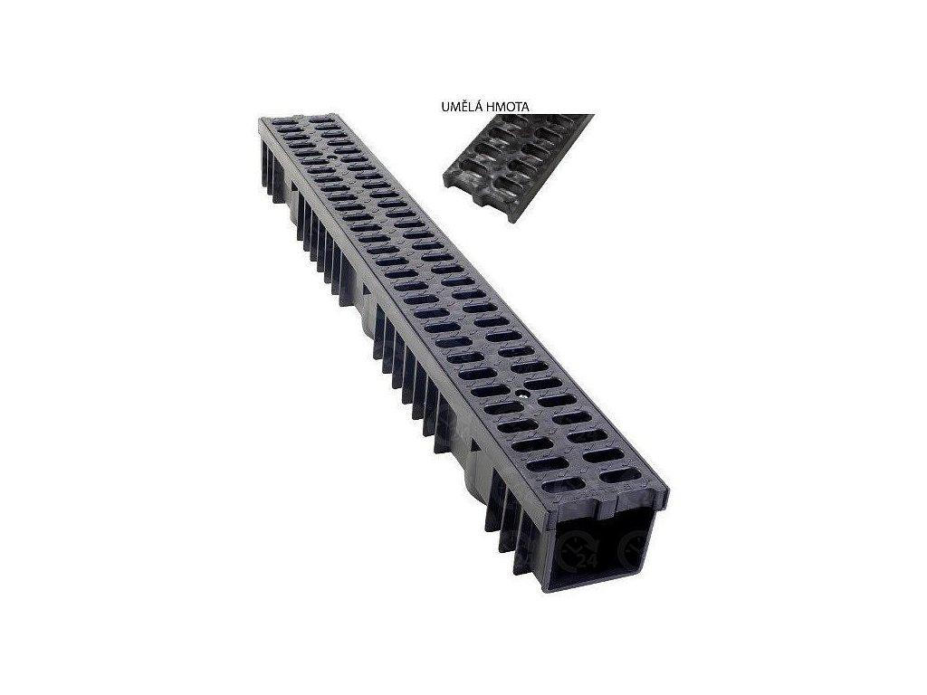 Odvodňovací žľab PVC mreža 1,5t (1000x130x105)