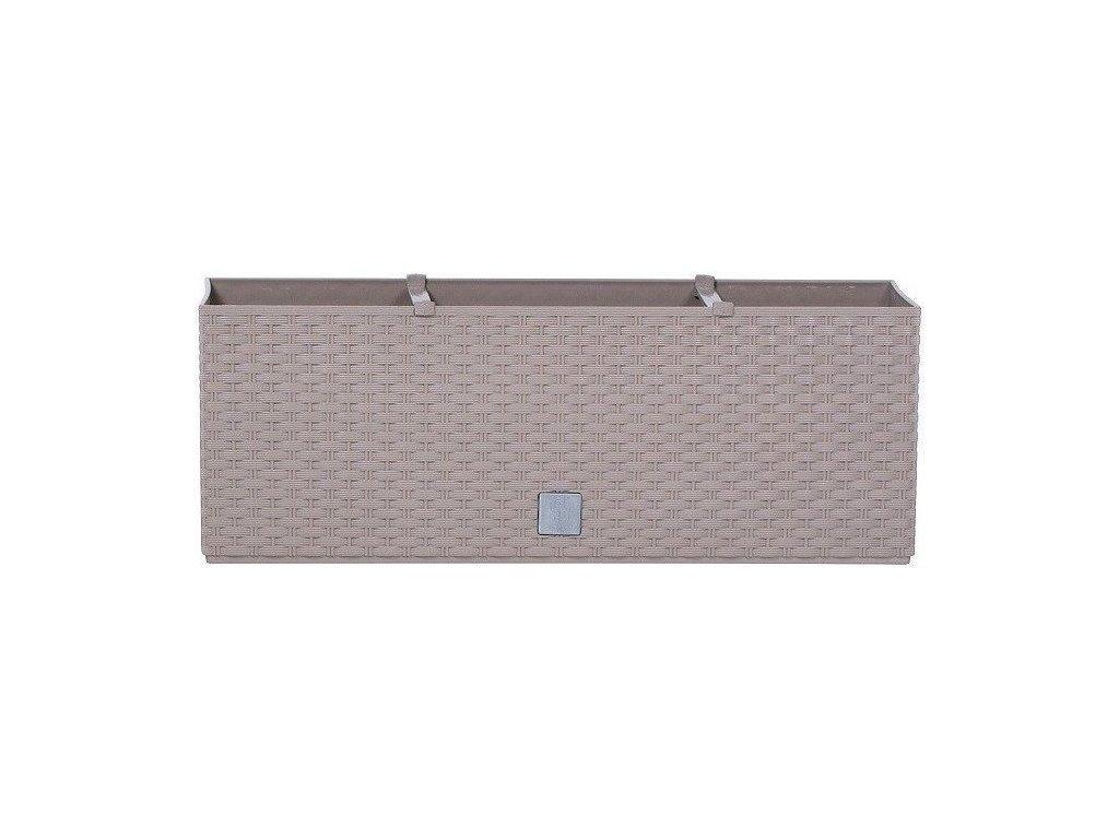 Plastové samozavlažovacie truhlíky Rato Case mocca 80 x 33 cm