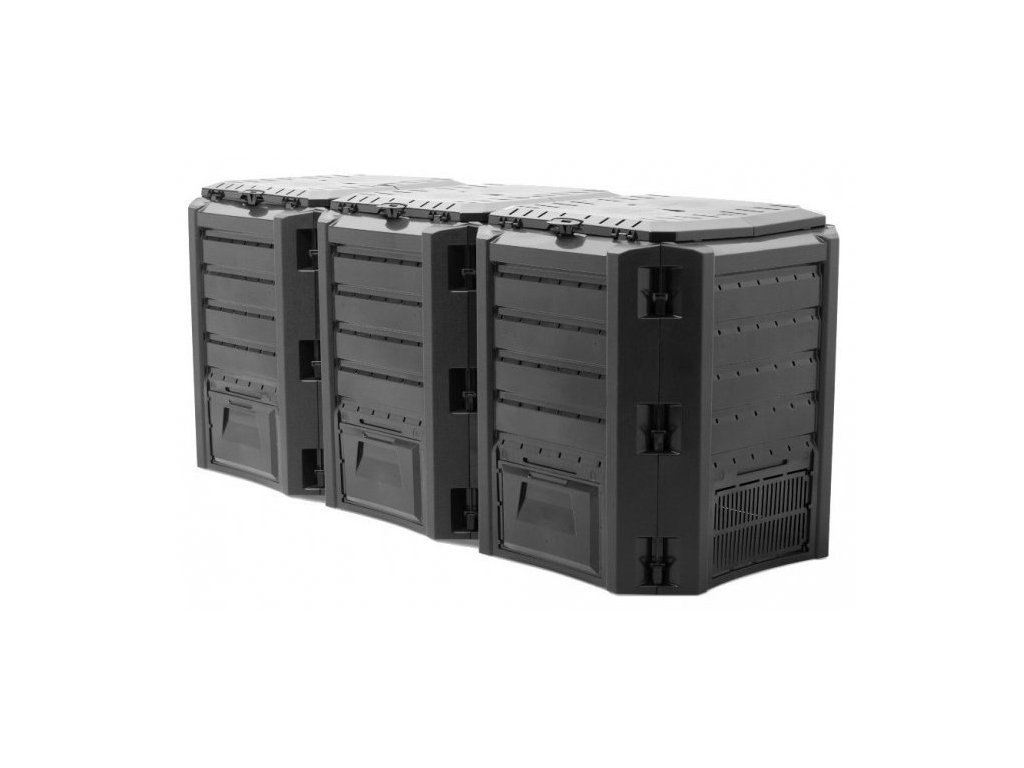 Kompostér 1200 l čierny Compogreen Blister