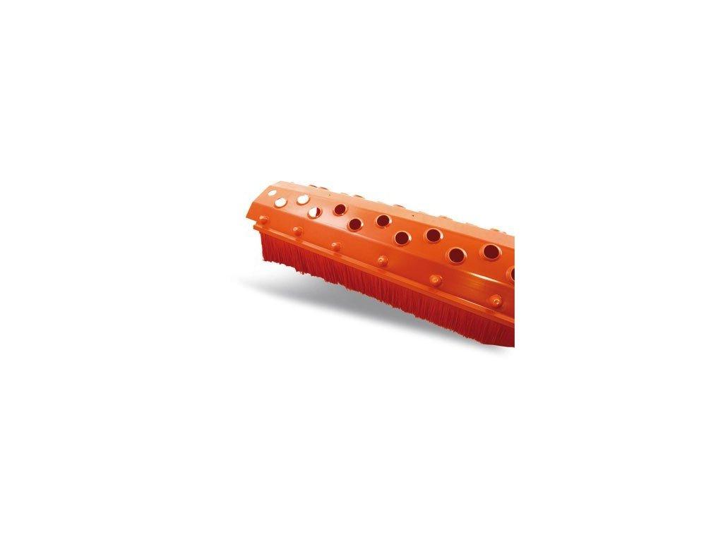 Vetrací pás hrebeňový s kefou červená lišta 180 x 1000 mm
