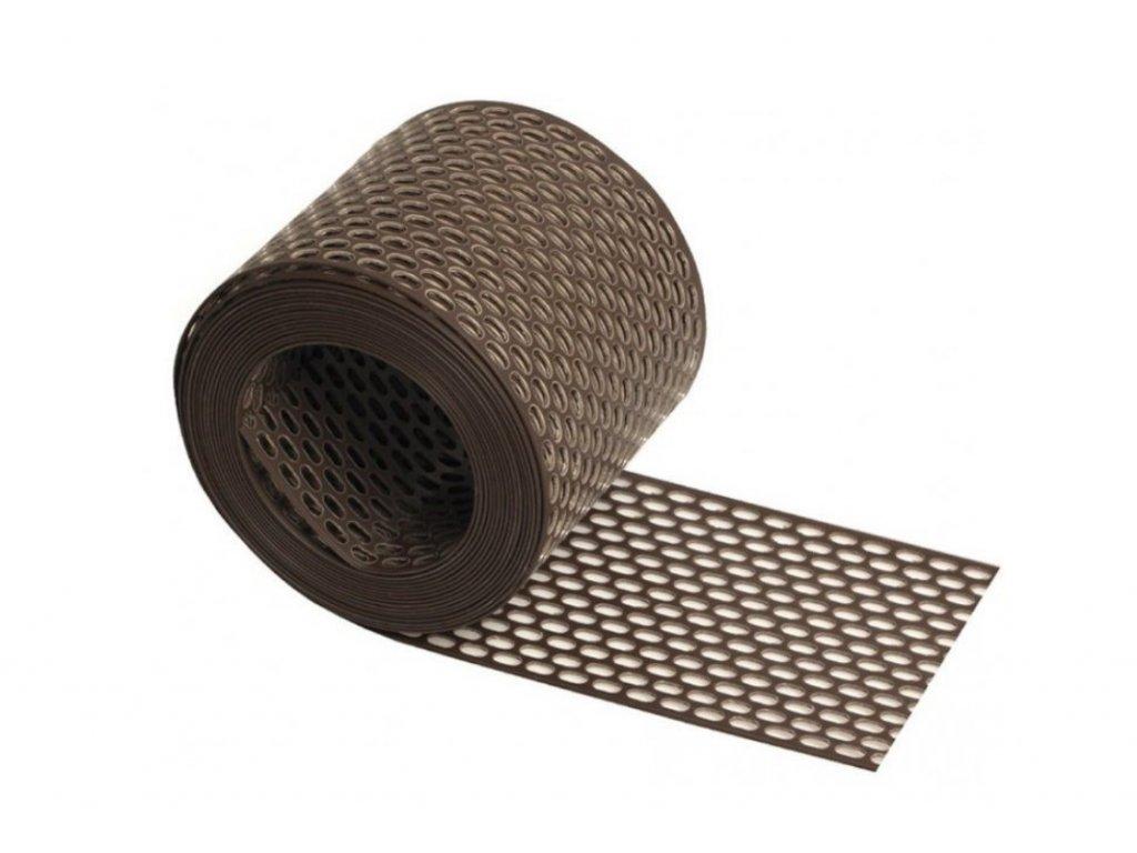 Ochranná vetracia mriežka PVC hnedý