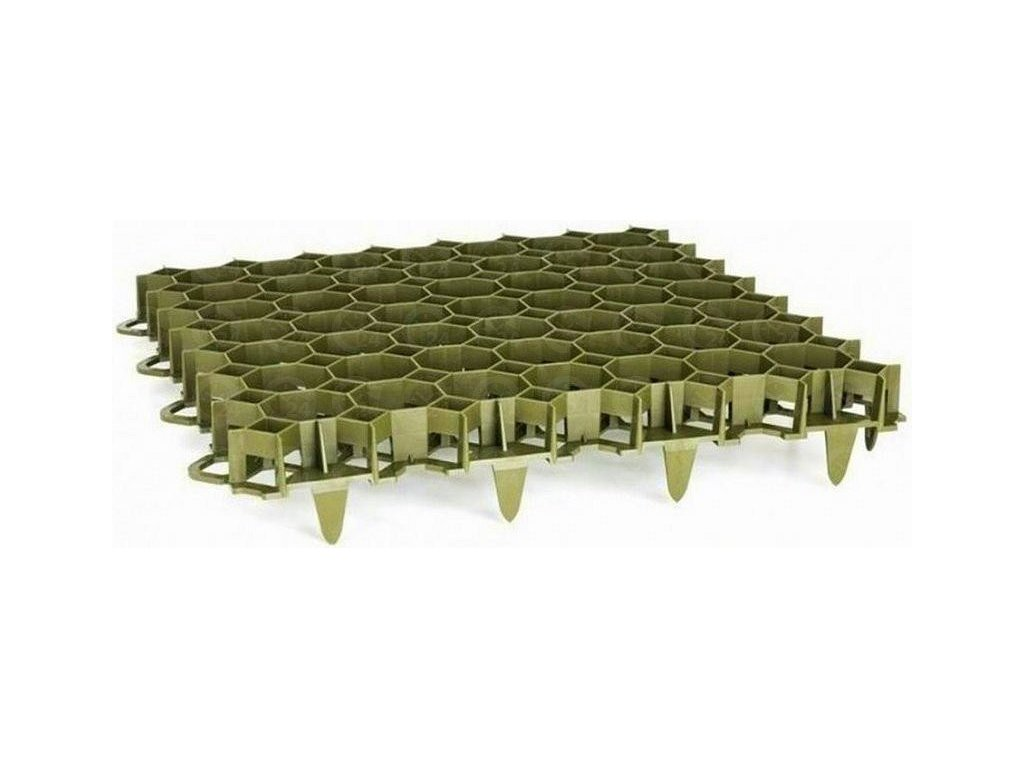 Zatrávňovacia dlažba PVC dlaždica 50 x 50 x 6,2 cm PROFI Garden zelená