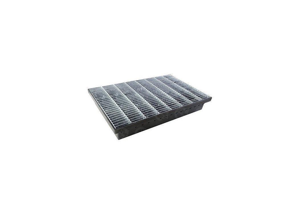 Vstupná rohož s pozinkovanou mrežou 580x365x100 odtok 50 - 110 mm