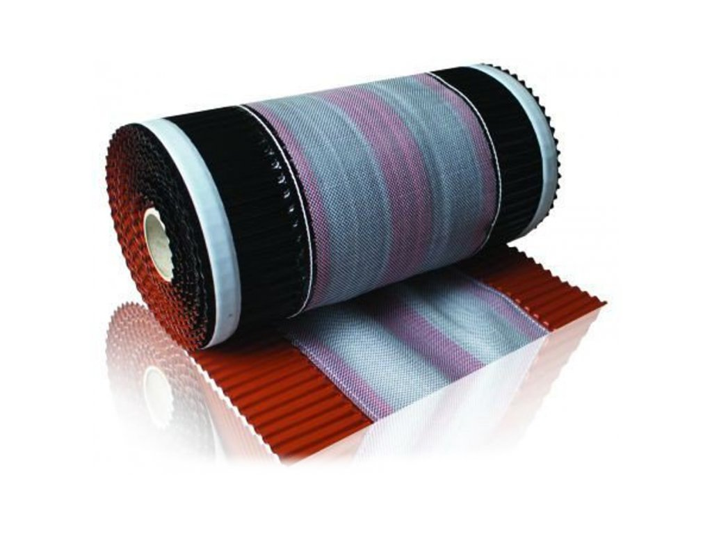 Vetrací pás hrebeňa a nárožia samolepiaci 310 x 5000 mm hnedá VENTI ROLL