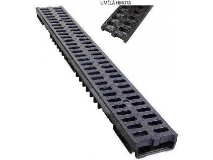 Odvodňovací žľab PVC mreža 1,5t (1000x130x55)