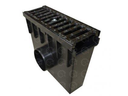 Zberná vpust 105 PVC liatinová mreža 12,5t (330x130x300)