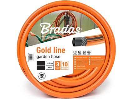 """Oranžová záhradnej hadice 1/2 """" - 30 m GOLD LINE 3vrstvá"""