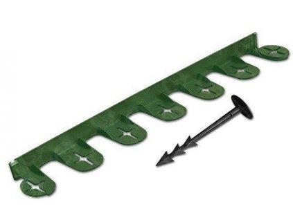 Neviditeľný obrubník plastový zelený 38 / d.60cm + kolíky zadarmo