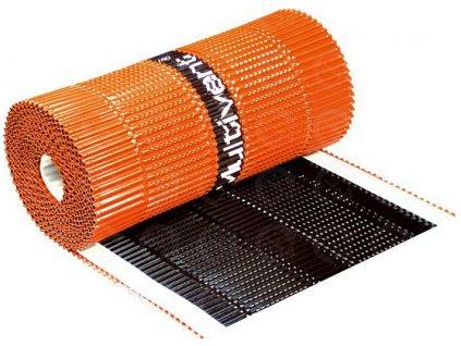 Vetrací hrebeňový a nárožný pás hliníkový - tehlová