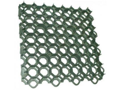 Plastová dlažba 50 x 50 x 7,3 cm TRAWAY 400t zatrávňovacia tvárnica