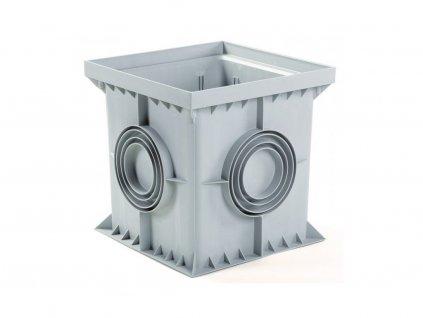 Revízna šachta 550 x 550 mm šedá (odtok 160-320 mm)