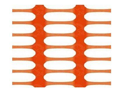 Bezpečnostná sieť vyznačovacia oranžová 1 x 50 m DRAGON (250g/m2)