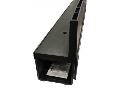 Odvodňovací žľab plastový štrbinový PVC kryt 1,5t (1000x130x105)