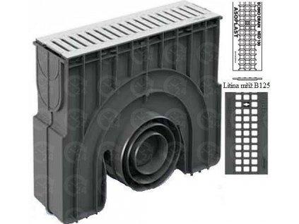 Zberná vpusť NEOMAX 100H liatinová mreža 12,5 t (500 x 154 x 454 mm)