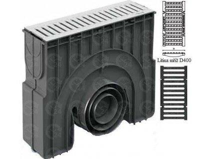 Zberná vpusť EXEL 150H liatinová mreža 40 t (499 x 208 x 474 mm)