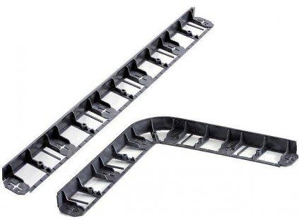 Neviditeľný obrubník plastový čierny 57 mm / 8 m + kolíky zadarmo