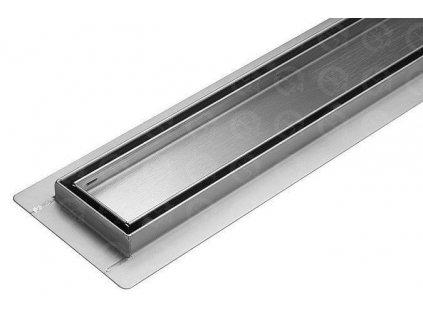 Kúpeľňový sprchový žľab nerezový s roštom pre dlažbu 900 mm