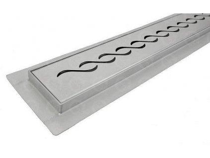 Kúpeľňový sprchový žľab nerezový s roštom Braid 500 mm