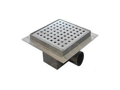 Kúpeľňová podlahová vpusť nerezová s roštom Pixel 150 mm