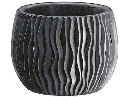 Plastové kvetináče Sandy Bowl antracit Ø 37 cm