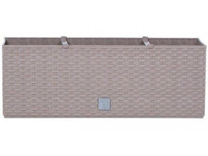 Plastové samozavlažovacie truhlíky Rato Case mocca 51,4 x 19,2 cm