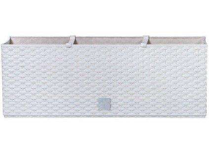Plastové samozavlažovacie truhlíky Rato Case biely 60 x 25 cm